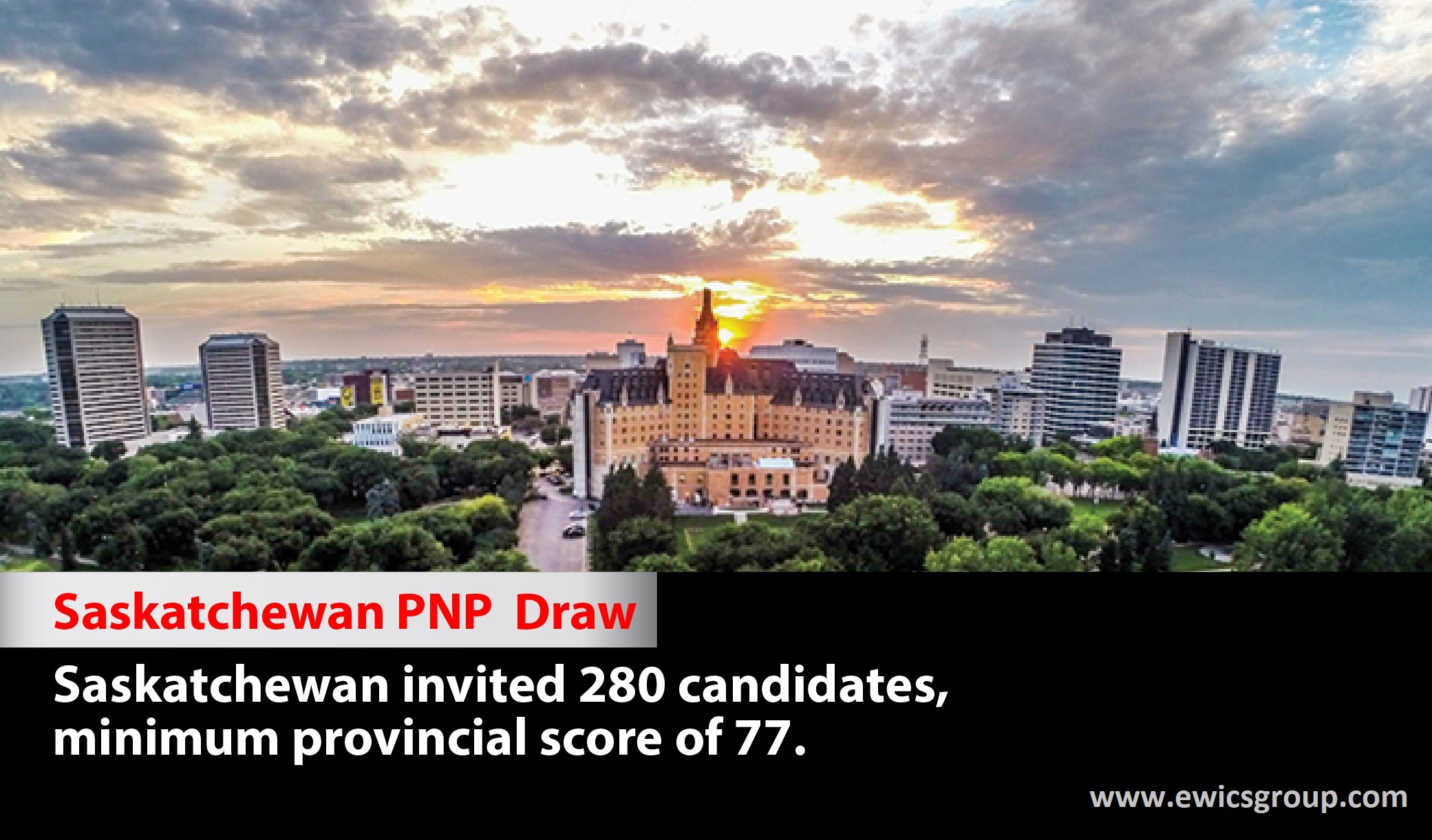 In the latest Saskatchewan PNP draw held on July 21, 2021, the province of Saskatchewan issued a total of 280 invitations